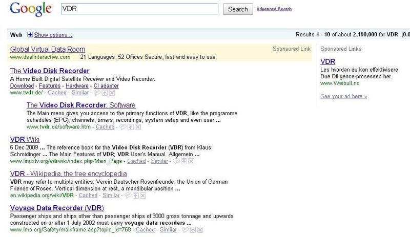 VDR-Google